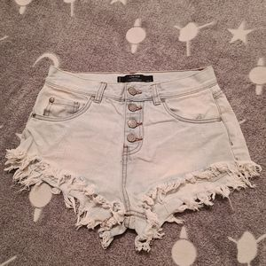 Factorie 8 Faded Denim High Waisted Sexy Shorts